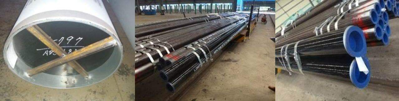 pipe packing with end cap