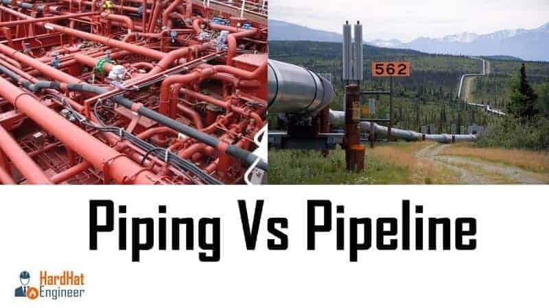 What is the difference between piping and pipeline