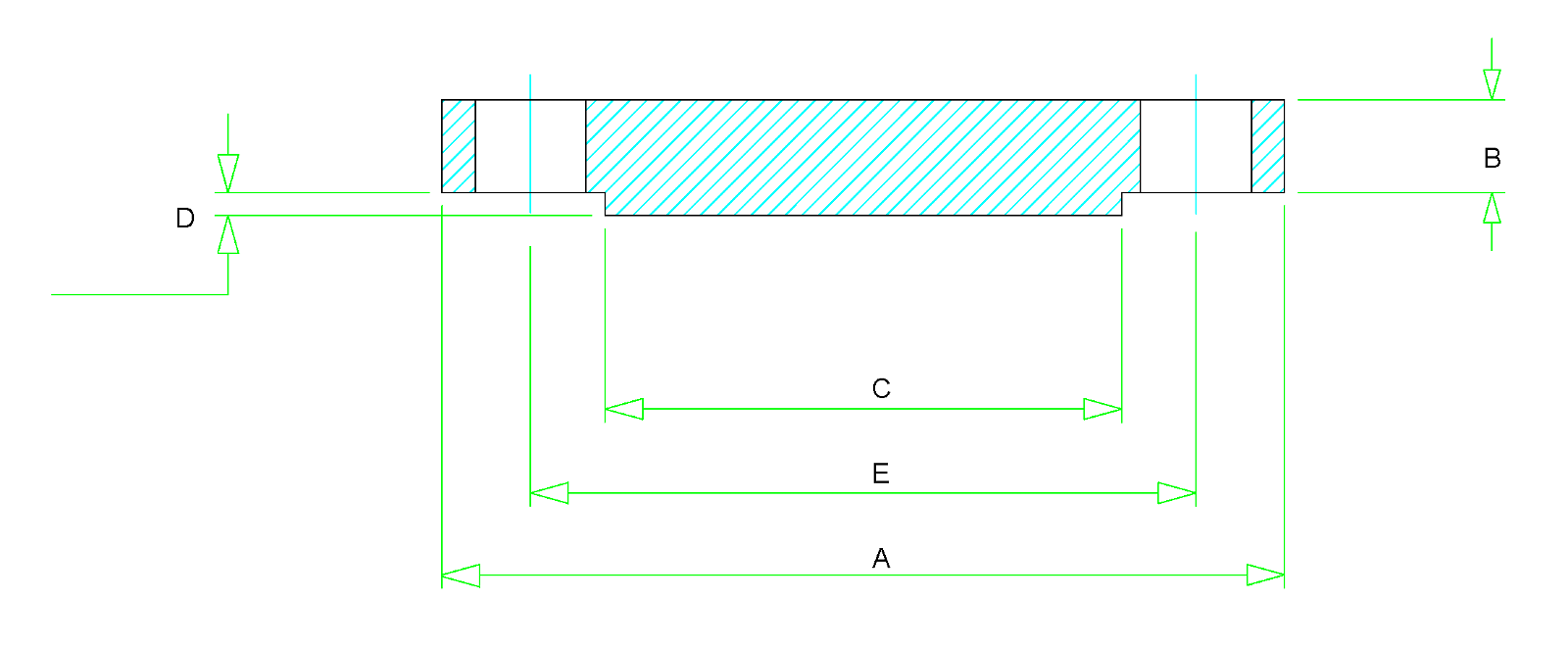 Blind Flange Dimensions - Class 150 to Class 2500