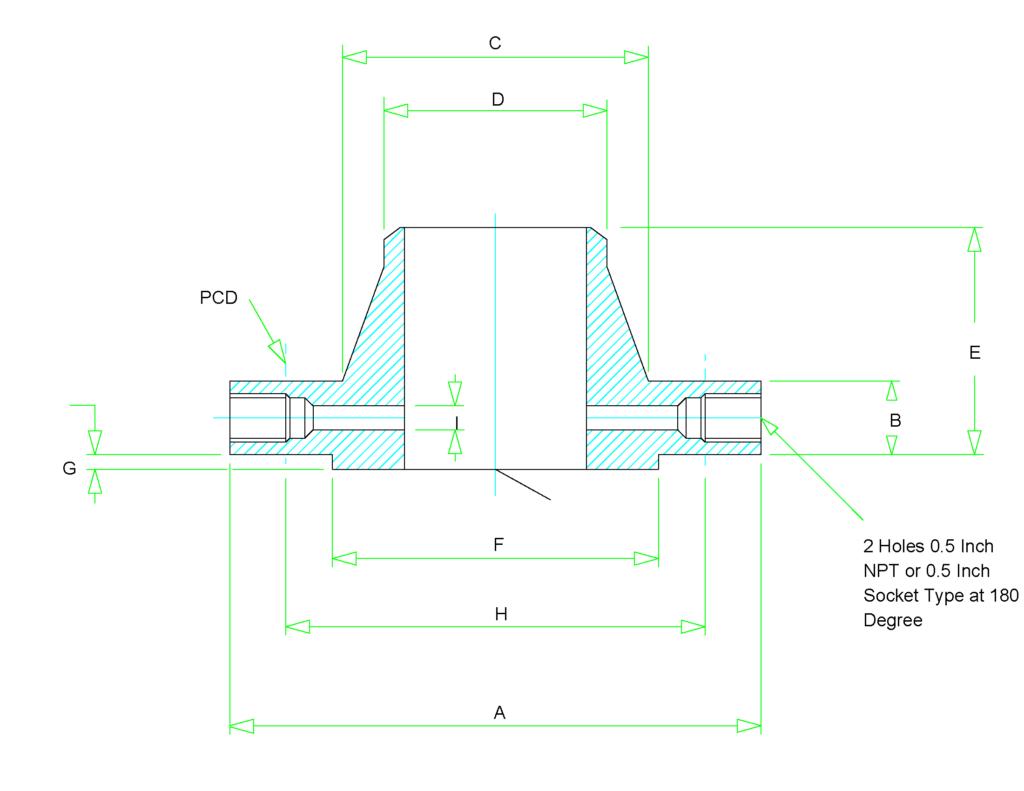 orifice flange dimensions