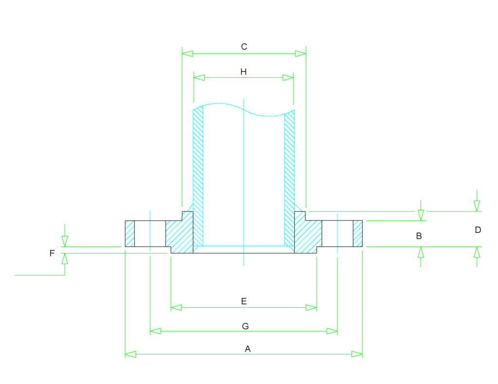 slip on flange dimensions