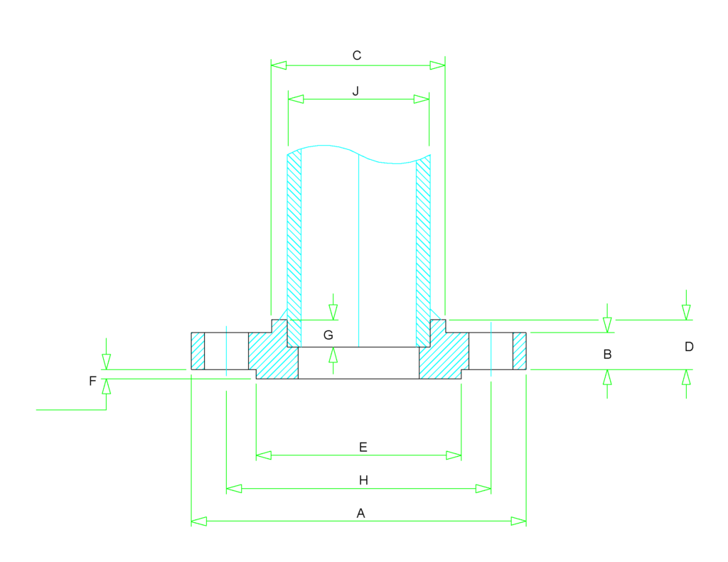 socket weld flange dimensions