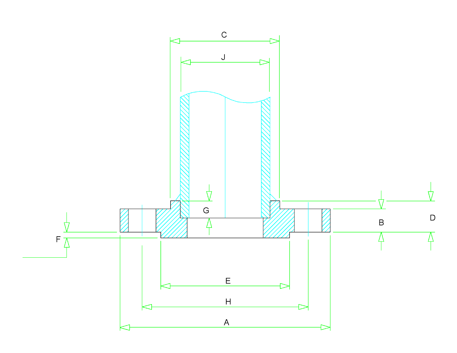 Socket Weld Flange Dimensions - Class 150 to Class 1500