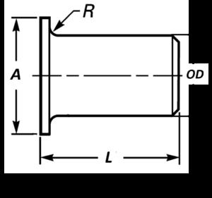 stub end dimensions
