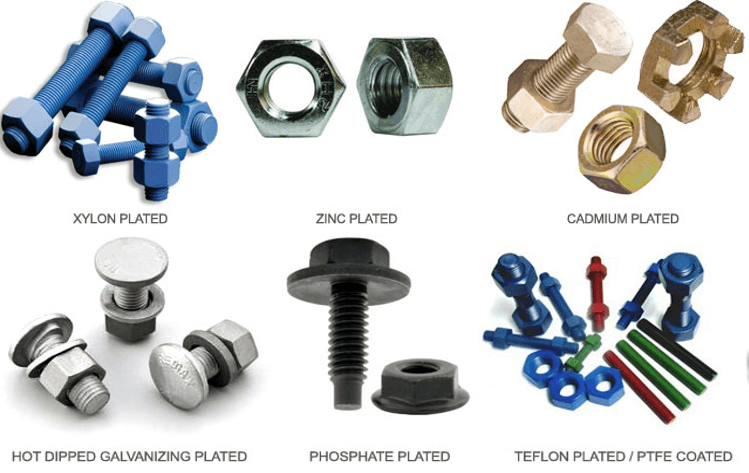 Coating on Stud Bolts and Nuts