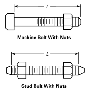flange bolt dimension chart