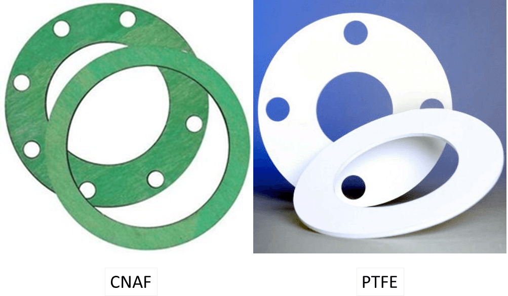 Full face and inside bolt circle CNAF and PTFE Gaskets