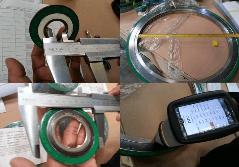 spiral wound gasket dimensions