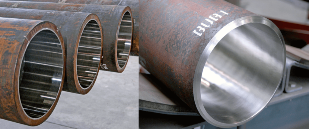 clad carbon steel pipe with alloy steel cladding