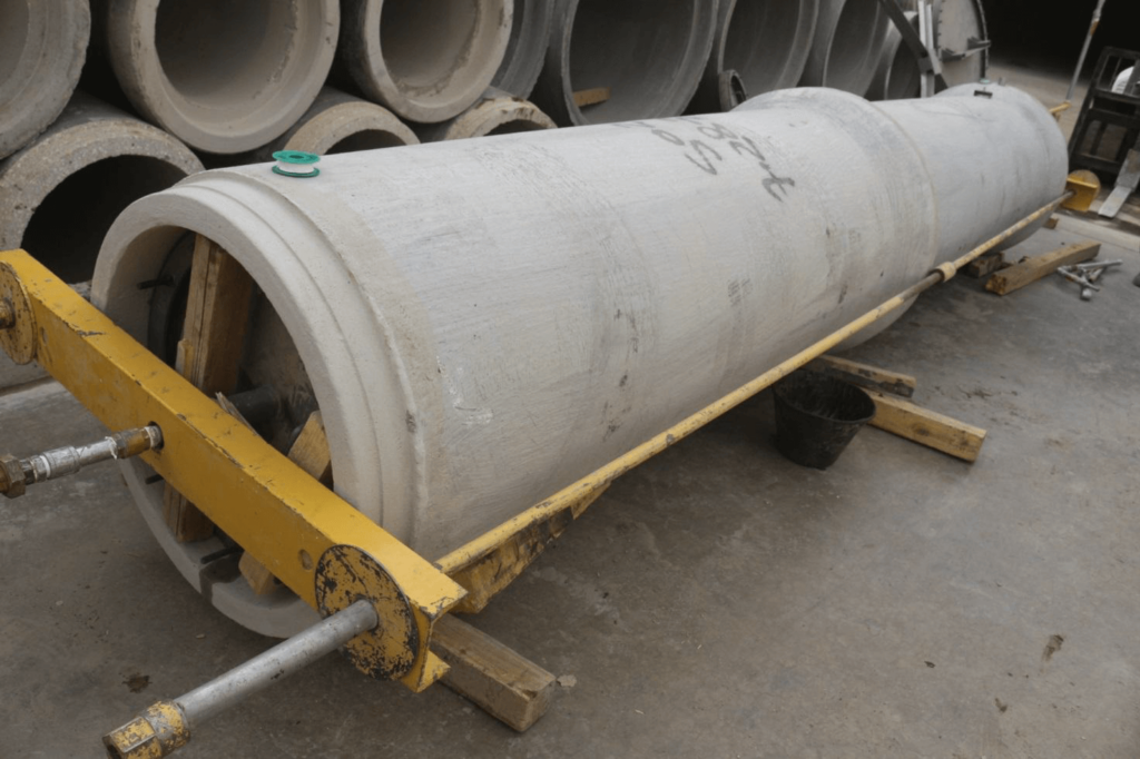 cement concrete pipe hydro test
