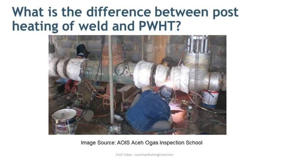 difference between post heating of weld and PWHT