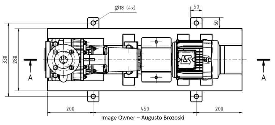 Top View of pump GA drawing